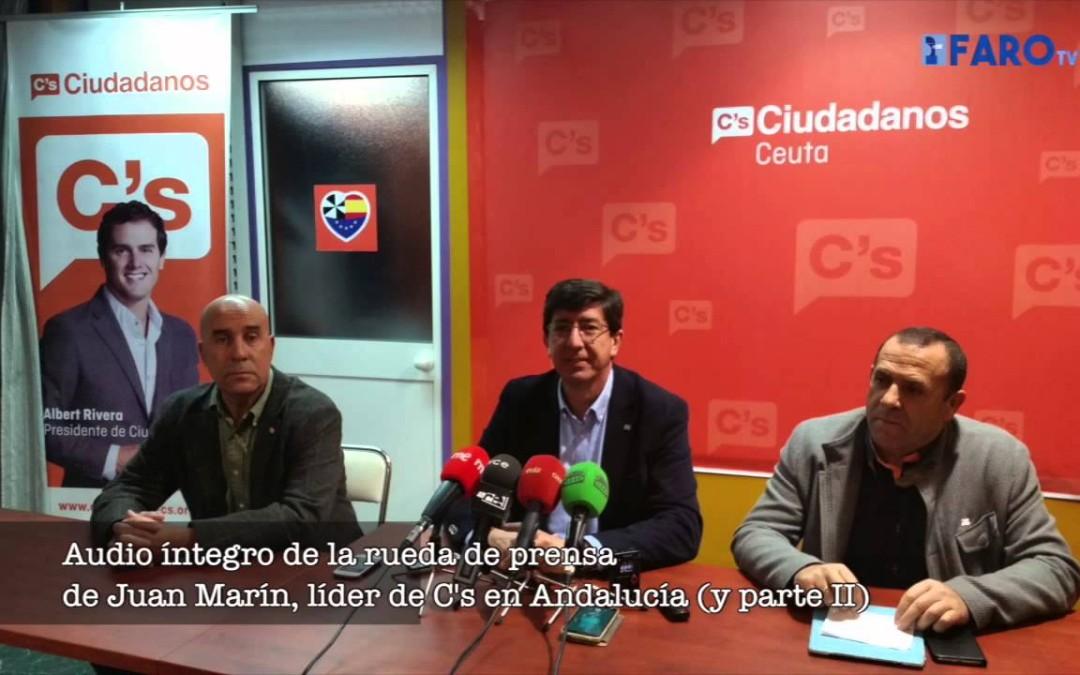 Rueda de prensa de Juan Marín, líder de la C'S en Andalucía (parte 2)