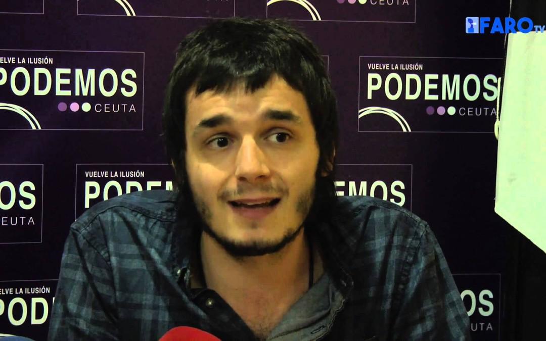 Podemos Ceuta contra la intervención de España en Siria