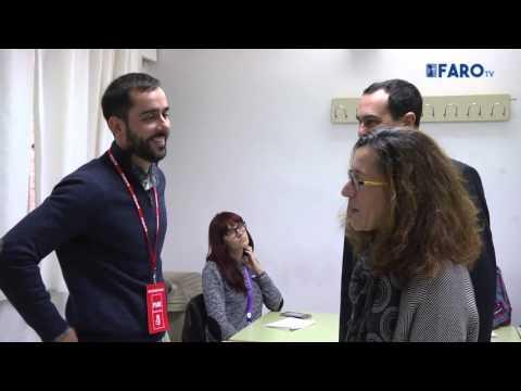 Los candidatos del PSOE votan en diversos centros de la ciudad