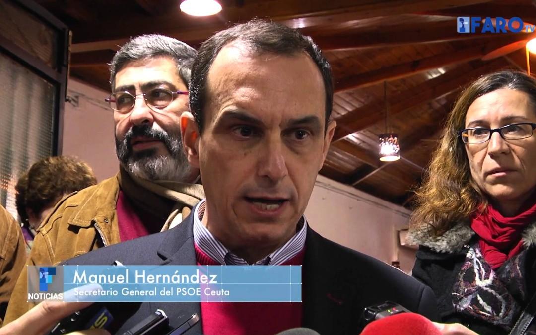 El Psoe Ceuta adelantó el cierre de campaña en un acto celebrado en un acto celebrado en un céntr