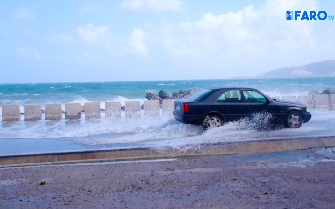 Ceuta, aislada por el temporal