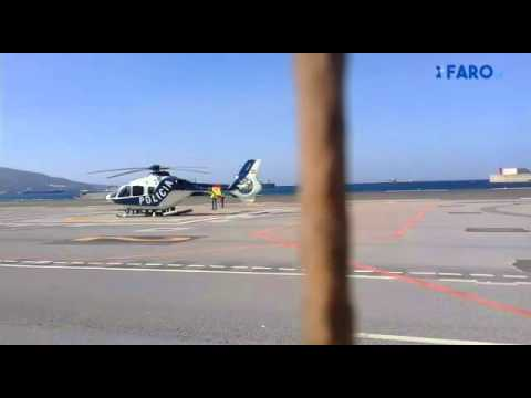 Traslado en helicóptero de los detenidos en la operación contra el yihadismo