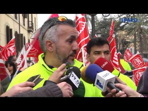 Trabajadores de Trace protestan por la polémica de la limpieza de los cuarteles