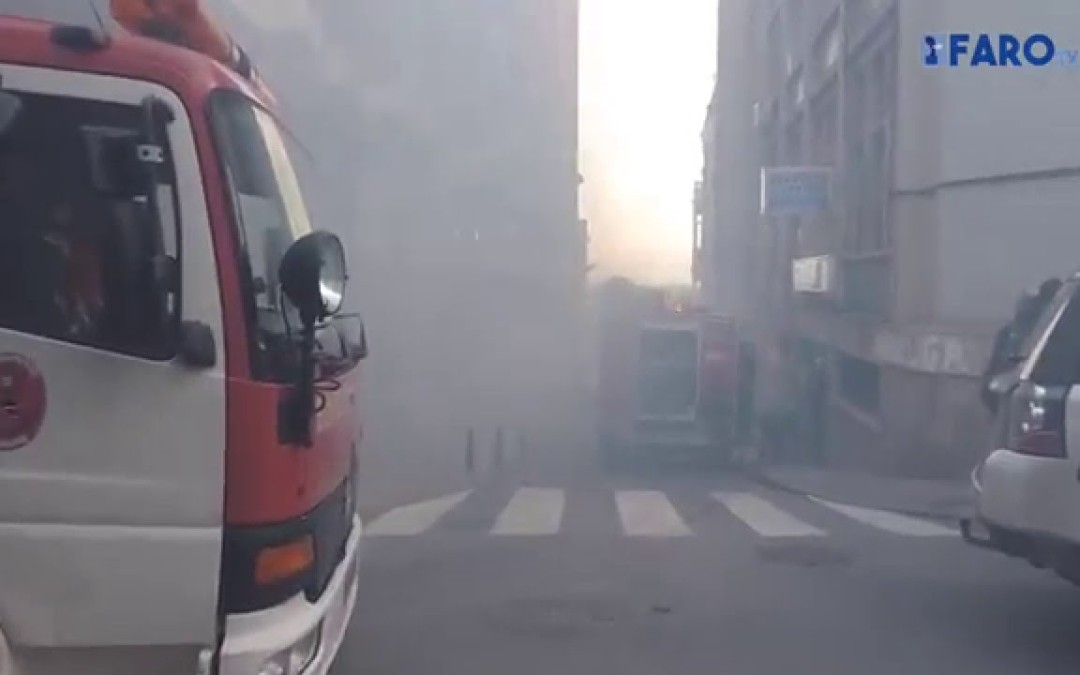 Arde el vehículo de Aróstegui a las puertas del sindicato