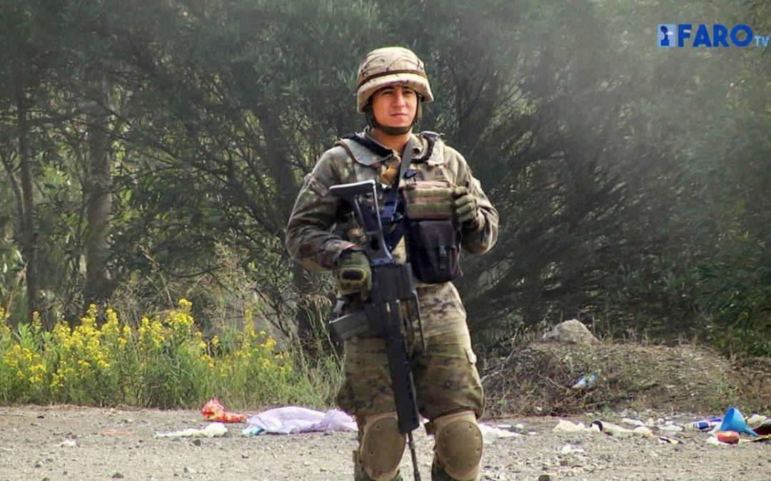 Ejercicio del contingente de la Comgeceu que se desplegará en Mali