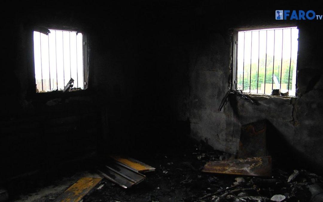 Grave incendio de Obimace en Cortijo Moreno