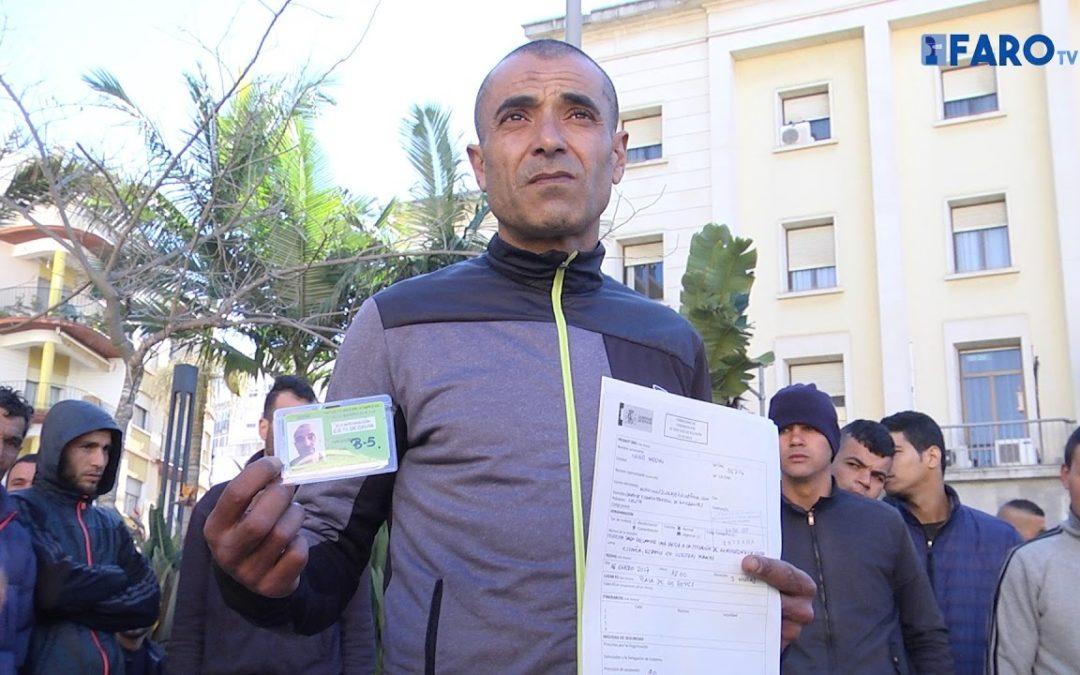 Protesta de los argelinos para poder ir a la Península