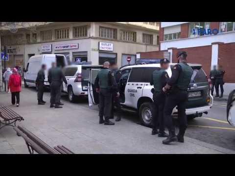 La Guardia Civil apoya a efectivos de la península en una detención en Azcárate