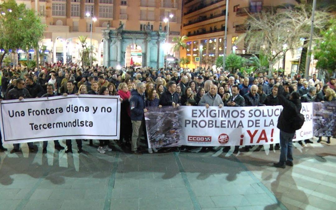 Unos 750 manifestantes pidieron una frontera fluida y segura