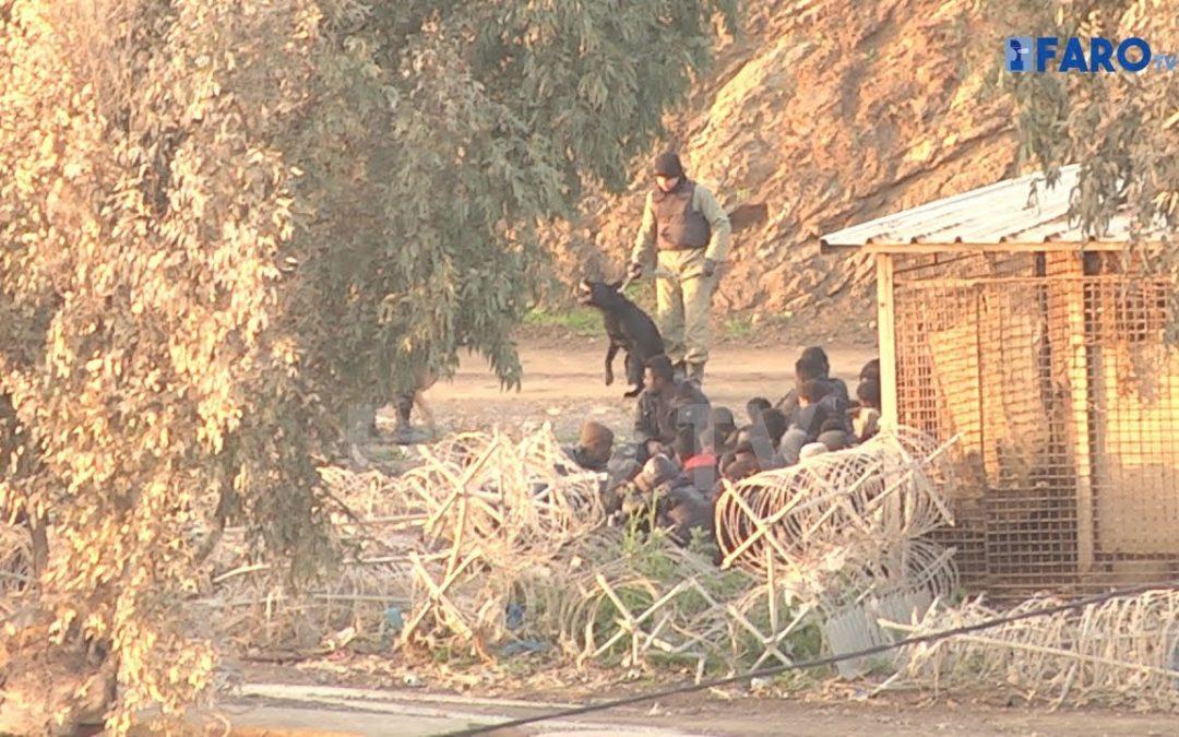 Un grupo de 150 inmigrantes intenta sin éxito cruzar a Ceuta por el Biutz y la frontera