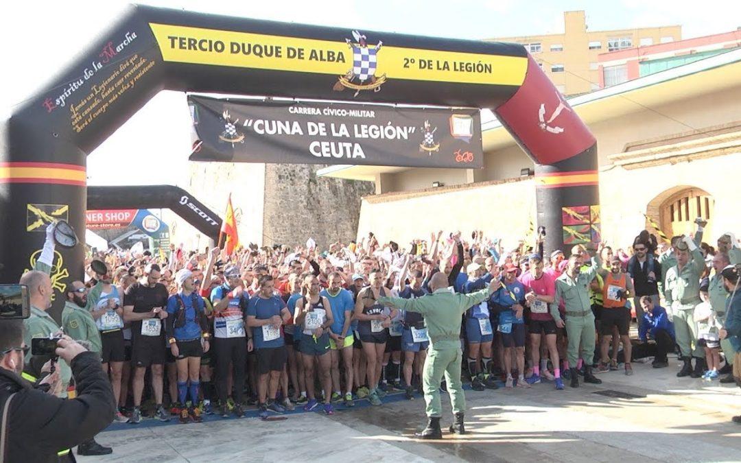 Más de 3.000 personas en la carrera de la Cuna de la Legión de Ceuta
