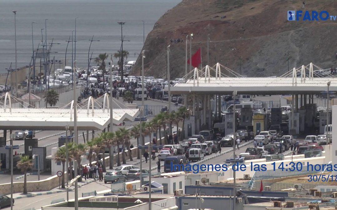 Paralizada la frontera de Ceuta ante una protesta de porteadores en Marruecos
