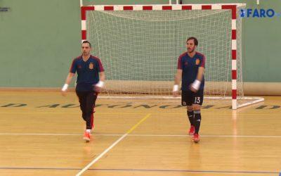 La selección española de fútbol sala ya entrena en Ceuta