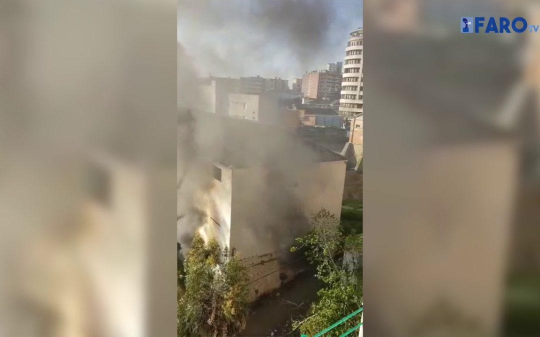 Arden los barracones del Sardinero, que siguen ocupados