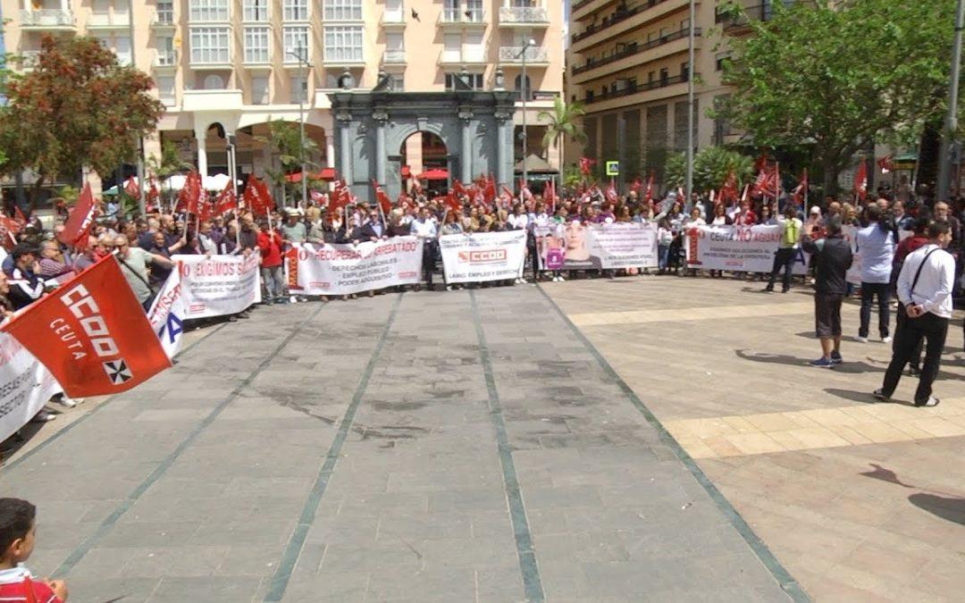 Los sindicatos acusan al las administraciones de querer cargarse Ceuta