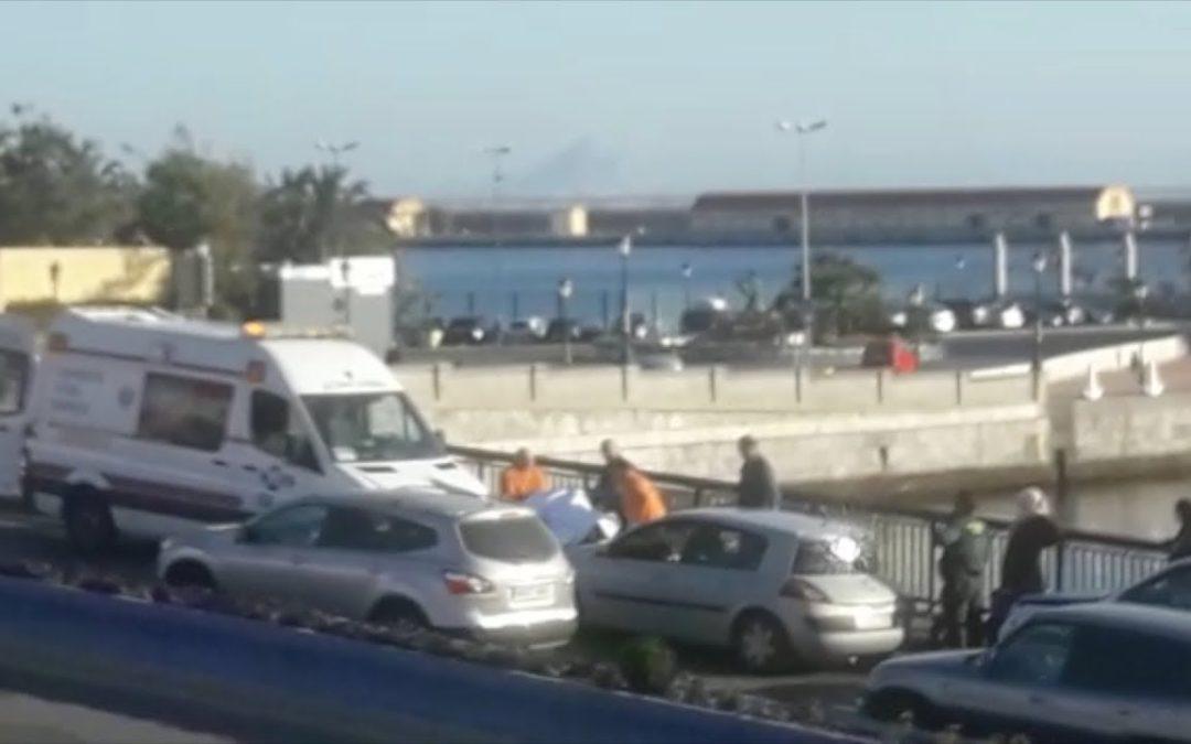 Accidente de tráfico cerca del Puente del Cristo