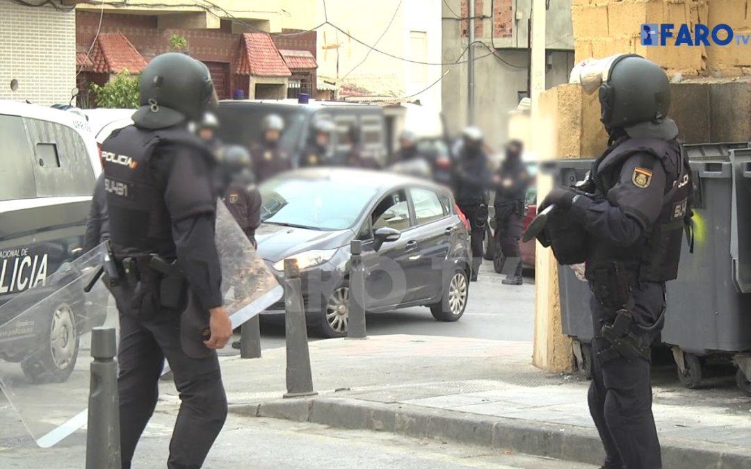Operación de la Policía Nacional de Ceuta en busca de armas en el Príncipe