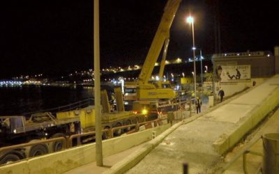 El retraso de la obra de la pasarela de Miramar se debe a las adversas condiciones meteorológicas