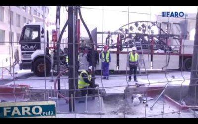 Comienza la instalación de las  farolas en Gran Vía