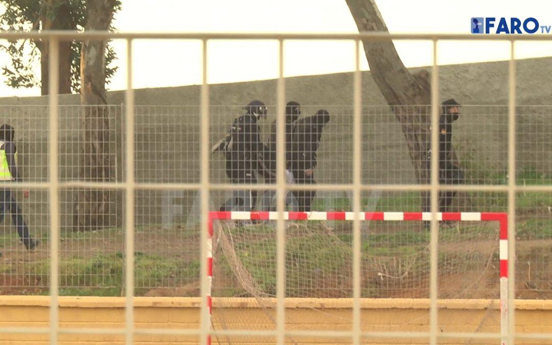 Así ha intentado escaparse de la Policía Nacional uno de los detenidos en la operación del Príncipe