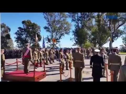 Celebración del XVIII Aniversario de la creación del Batallón de Cuartel General de la COMGECEU