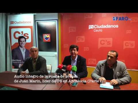 Rueda de prensa de Juan Marín, líder de C'S en Andalucía (parte 1)