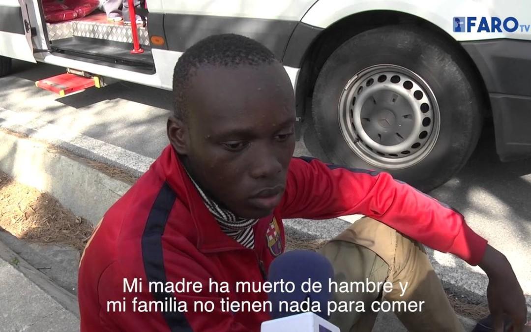 Diez inmigrantes subsaharianos desembarcan en el Desnarigado