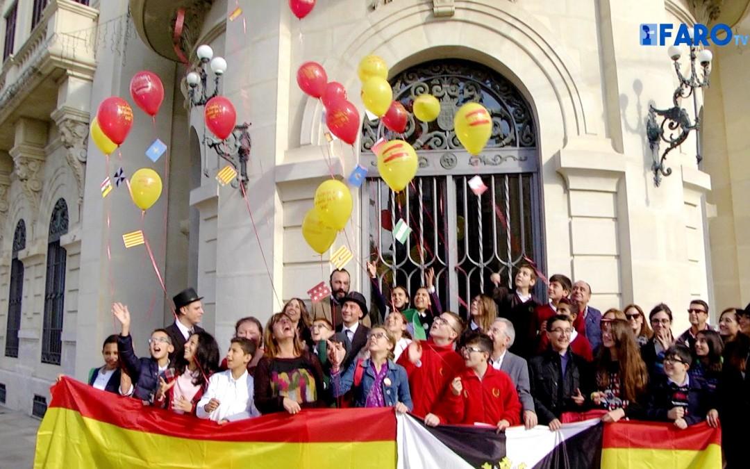 Una veintena de alumnos homenajearon hoy la Constitución del 78.