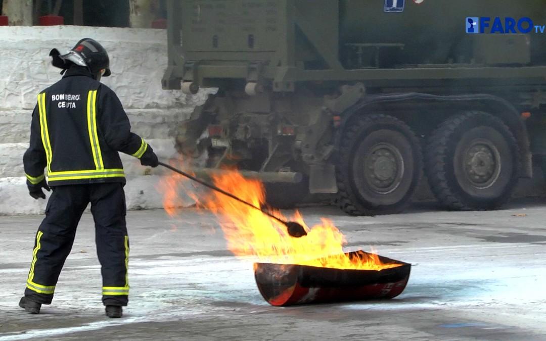 Segunda jornada del curso de formación contra incendios en la ULOG 23