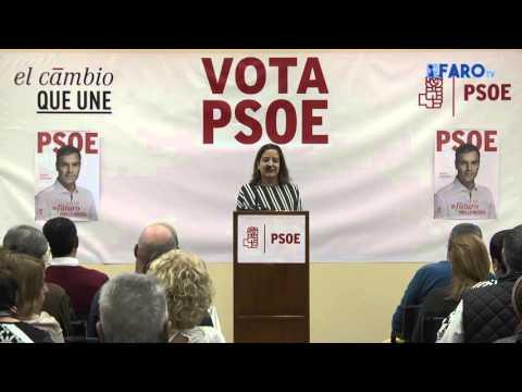 Iratxe García junto a los candidatos al Congreso y Senado por Ceuta