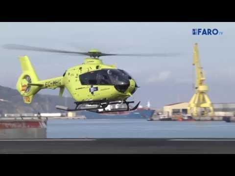 Rescate y simulacro en el helipuerto