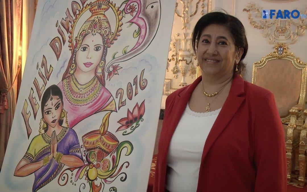 La diosa de la fortuna, protagonista del cartel del Diwali