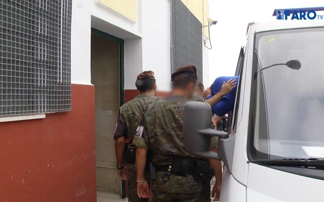 Los detenidos por los disparos a Hicham, en Jefatura