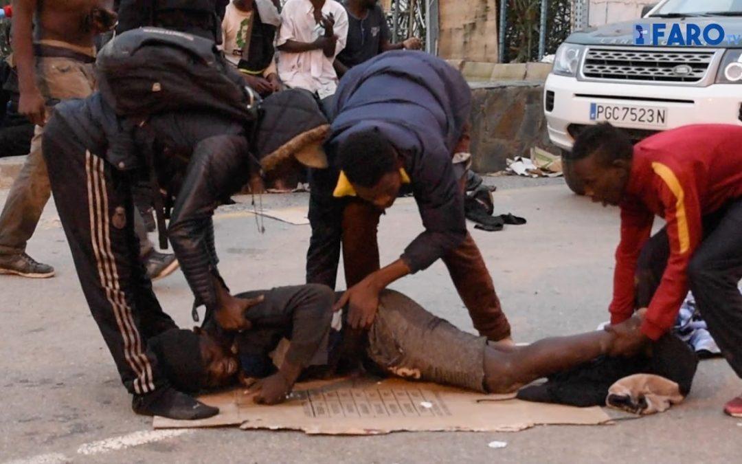Nueva entrada masiva en Ceuta con heridos