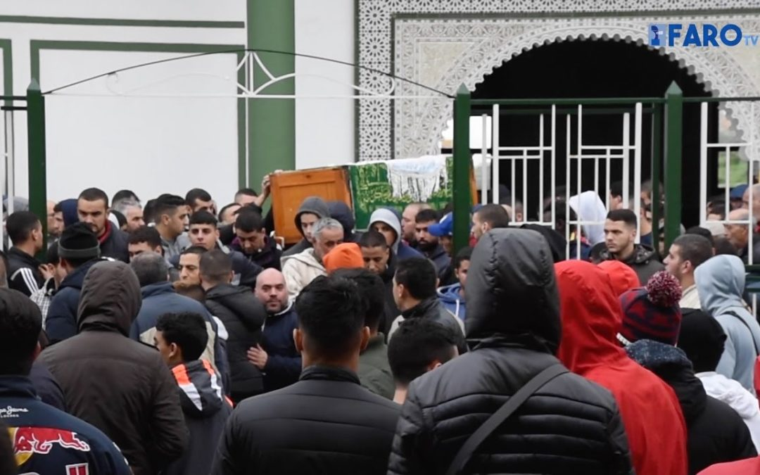 Conmovedor funeral de Yassin, el joven apuñalado en el corazón