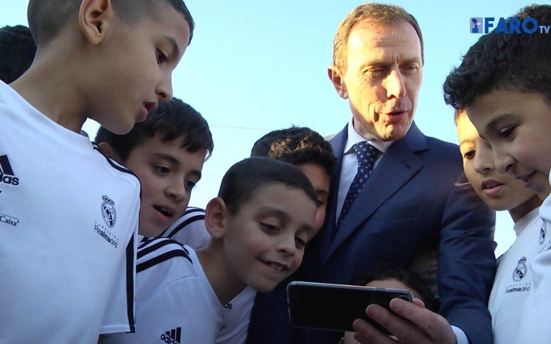 Butragueño respalda a la Fundación Real Madrid en Ceuta