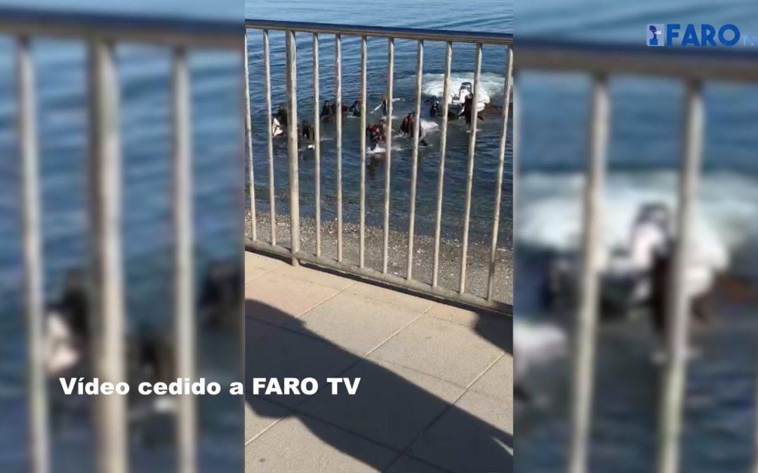 La Guardia Civil no localiza al patrón que coló a 17 subsaharianos en la Almadraba de Ceuta