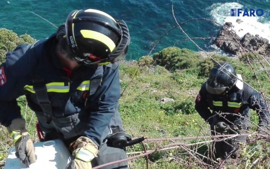Bomberos rescata una camada de perros en 'La Sirena'