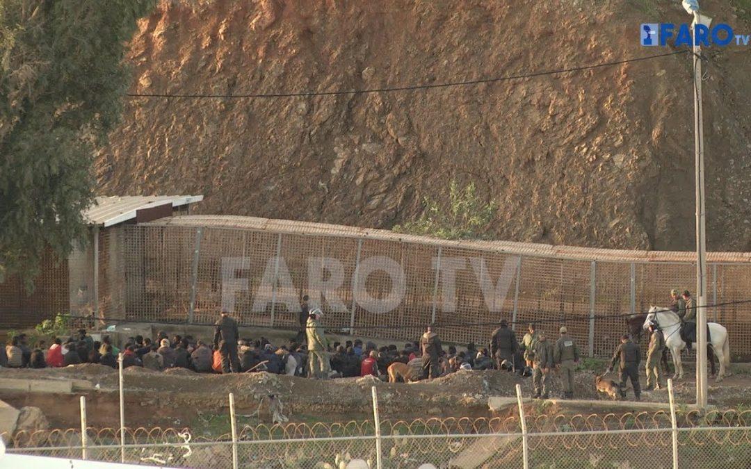 Los inmigrantes desesperados intentan cruzar a Ceuta por tercera vez consecutiva