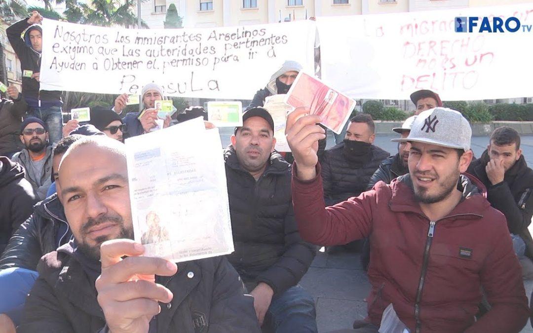 Los 'invisibles' del CETI protestan porque no hay salidas