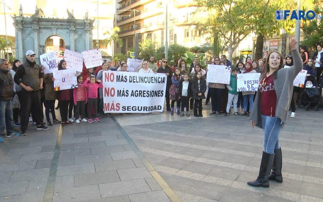 Manifestación por la inseguridad tras el brutal atraco a un niño