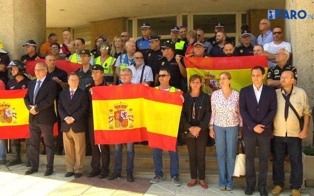 Concentración en apoyo a las Fuerzas de Seguridad destinadas en Cataluña