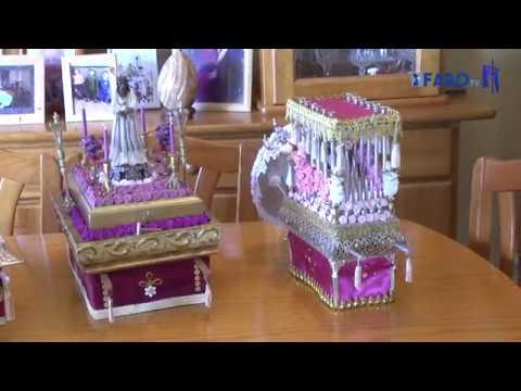 Maquetería en Semana Santa, con pasos y palios en miniatura