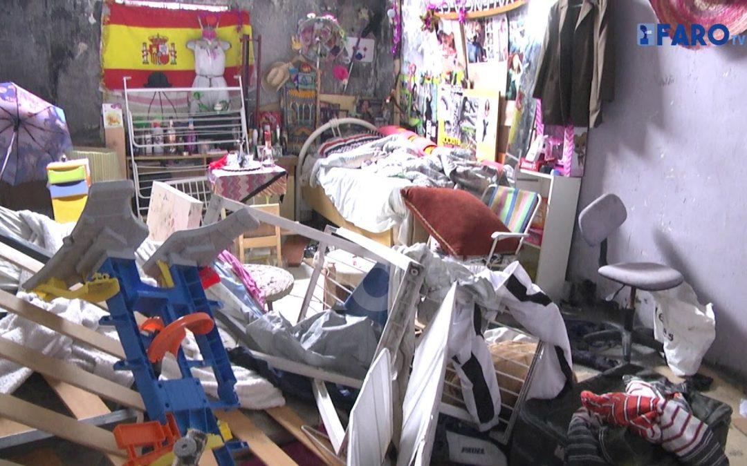 Batida de la Policía Local en los barracones del Sardinero, repletos de basura