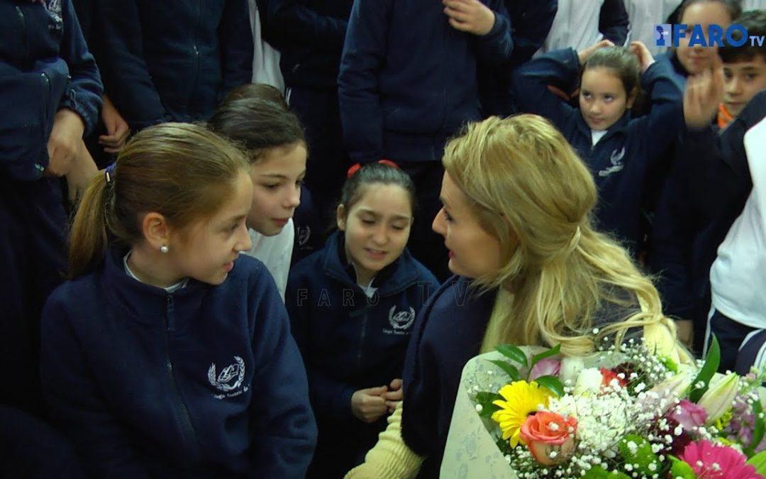Lidia Valentín participa en un encuentro con alumnos del 'Beatriz de Silva'