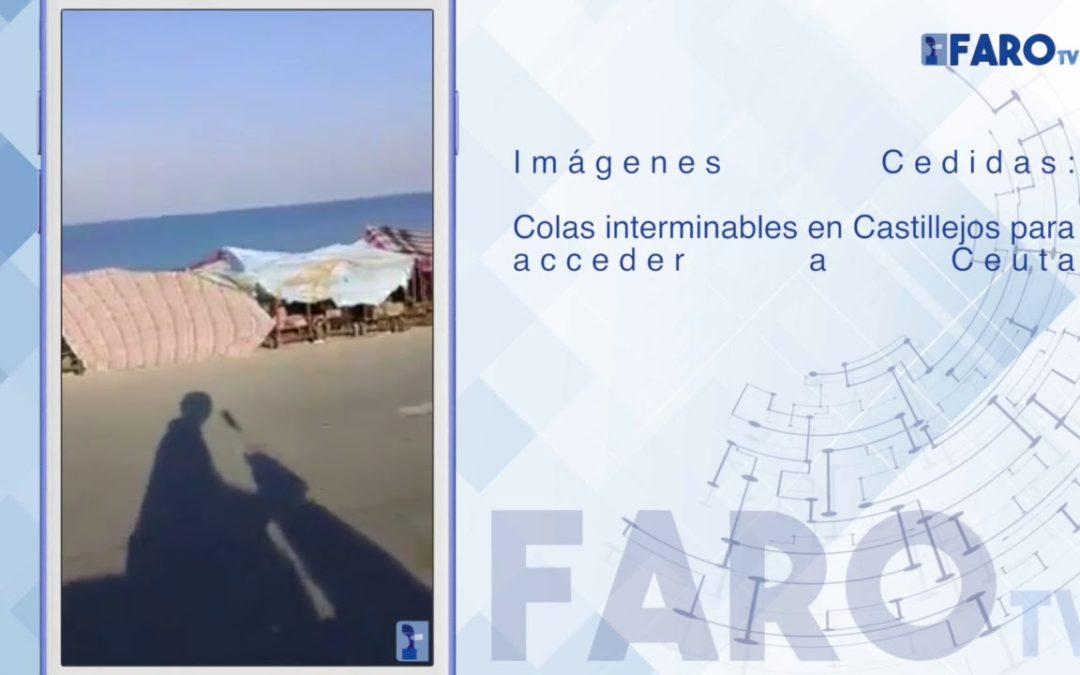 Colas interminables en Castillejos para acceder a Ceuta