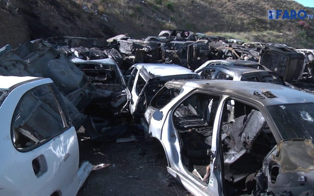 Quemados más de 30 vehículos abandonados en el vial del Príncipe Alfonso