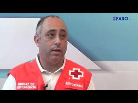 Los subsaharianos mostraron sus satisfacción a los integrantes del ERIE de Cruz Roja