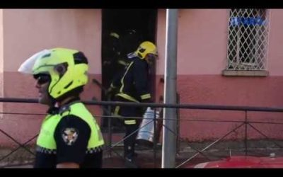 Incendio en una tienda en los Torreones del Mixto