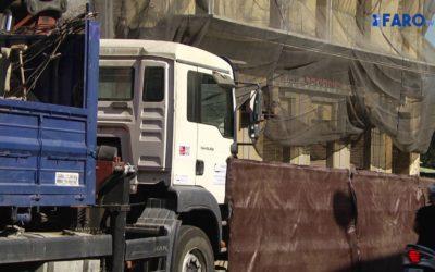 Paralizadas las obras de derribo del café bar Canarias por quejas de vecinos anoche